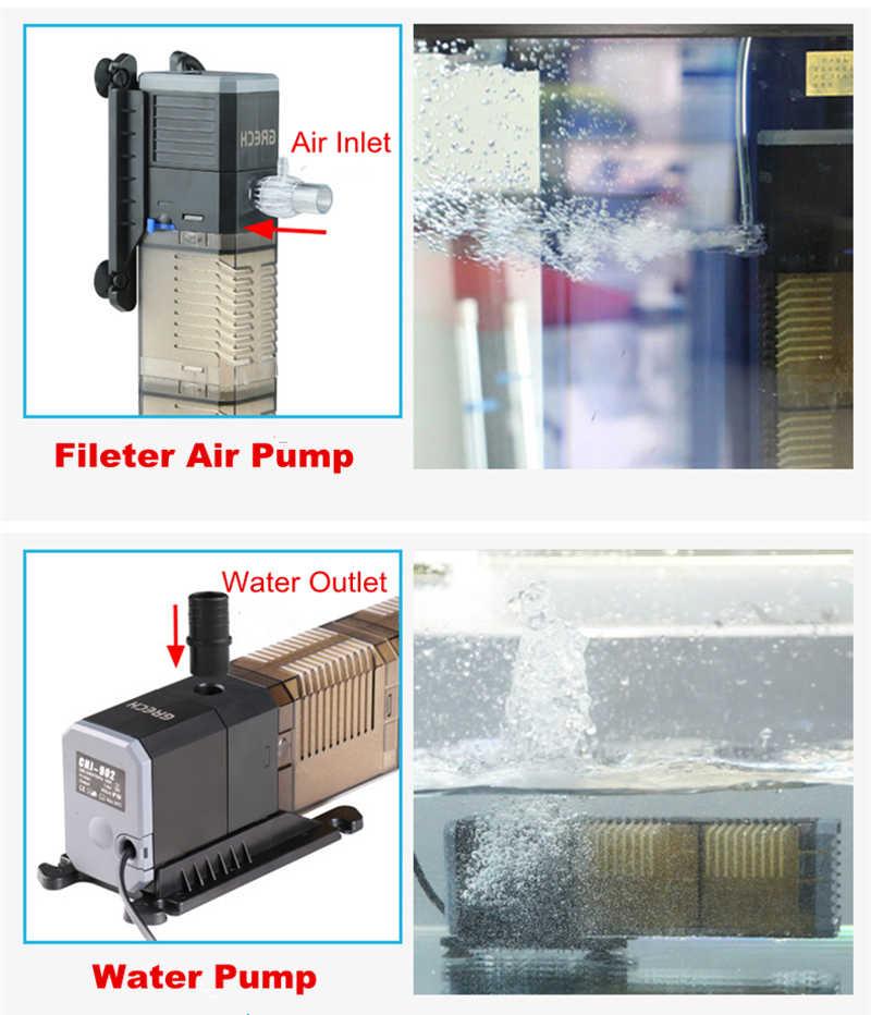 Pompe à filtre d'aquarium Super 4 en 1 Aquarium Submersible Air oxygène pompe interne CHJ502/CHJ602/CHJ902/CHJ1502 pompe à eau