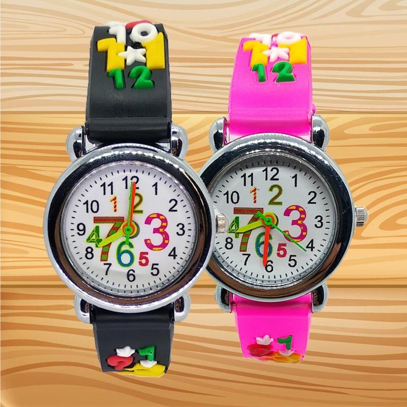 Children Puzzle Digital Watch Student Arabic Numerals 1-9 Kids Watches Electronic Children Watch For Child Girls Boys Clock Gift