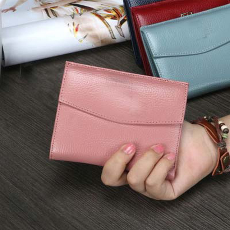 2017 Brand Fashion Europe And The United States  Genuine Leather Short Paragraph Small Wallet Women Simple Two Fold Portemonnee best battery brand 4570100 m70 vx545hd song the united states 3600mah battery electroplax 3 7v