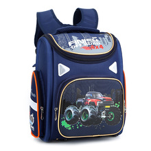 cartoon car School Bags boys Girls Children Backpack Primary school Backpack Orthopedic Backpack kids schoolbag mochila infantil недорого