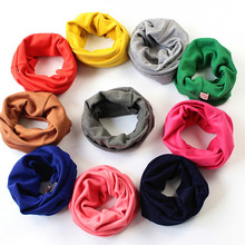 10 Colors Solid Color Warm Baby Scarf Kids Child Cotton Scarf Boys Girls Pure color O ring scarf children neck Scarves wholesale(China)