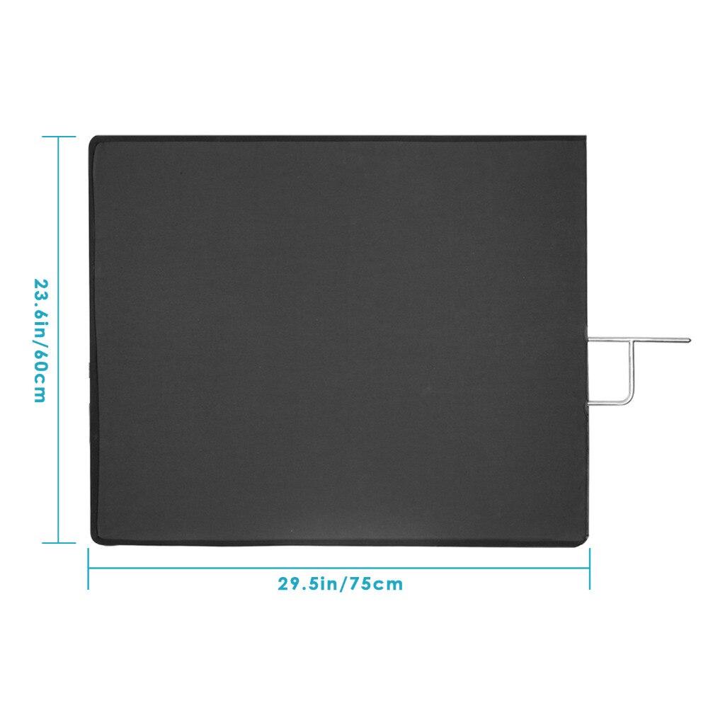 Neewer 60x75/45x60 Centimètres 4-en-1 Métal Panneau de Drapeau Ensemble Réflecteur avec blanc doux, noir, Argent et Or Couverture Tissu