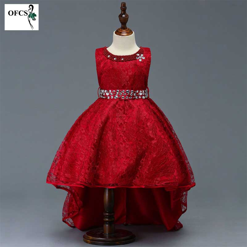New Kid Girl Clothes Summer Flower Lace Girls Wedding Pageant Party Dresses Princess Formal Prom Gowns Diamond Clothing 5-10YearNew Kid Girl Clothes Summer Flower Lace Girls Wedding Pageant Party Dresses Princess Formal Prom Gowns Diamond Clothing 5-10Year