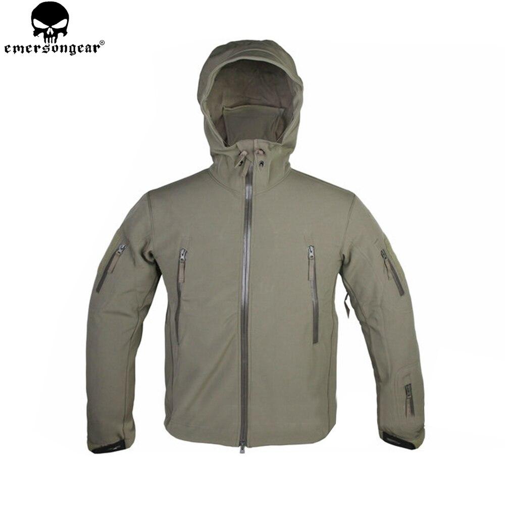 EMERSONGEAR Soft Shell Vestes En Plein Air Étanche Sport Camouflage Chasse Camping Randonnée Trekking Veste Tactique Manteau EM6792