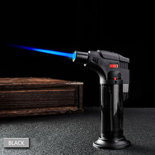 Kitchen Butane Lighter Cooking Torch Refillable Adjustable Flame Lighter BBQ Ignition Spray Gun Picnic Kitchen Tool NO GAS X 30 one switch welding butane burner ignition gas torch flame gun lighter tool spray gun liquefied gas gun
