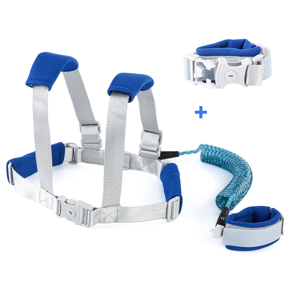Puseky Anti Lost Wrist Link Toddler Safety Harness Outdoor Walking  Kids Reflective Anti-lost Walking Harness Baby Harness Leash