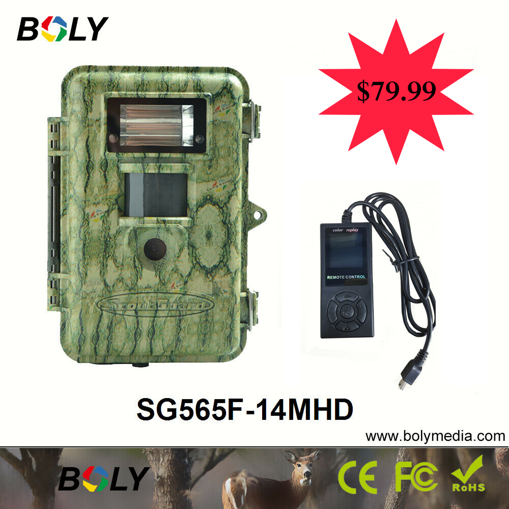 Bolyguard hunting camera 14MP 100ft Xenon White Flash Trail camera low glow IR Llights night vision