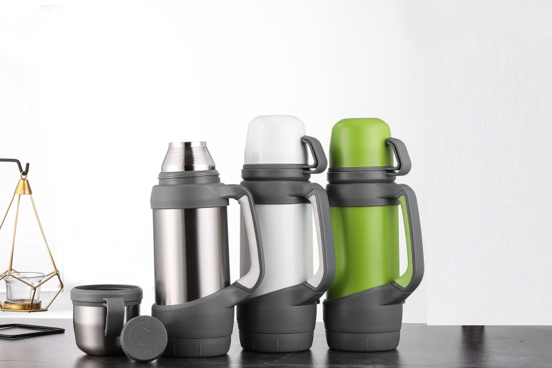 Keelorn Vacuum Flasks Thermoses Stainless Steel 1.2L 1L Big Size Outdoor Travel Cup Thermos Bottle Thermal Coffee Thermoses Cup