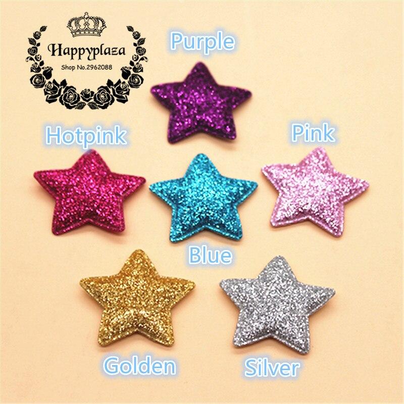 20 шт. Kawaii мягкий блеск звезда нашивки см 3,5 см аппликации для одежды Вышивание поставки DIY Craft украшения