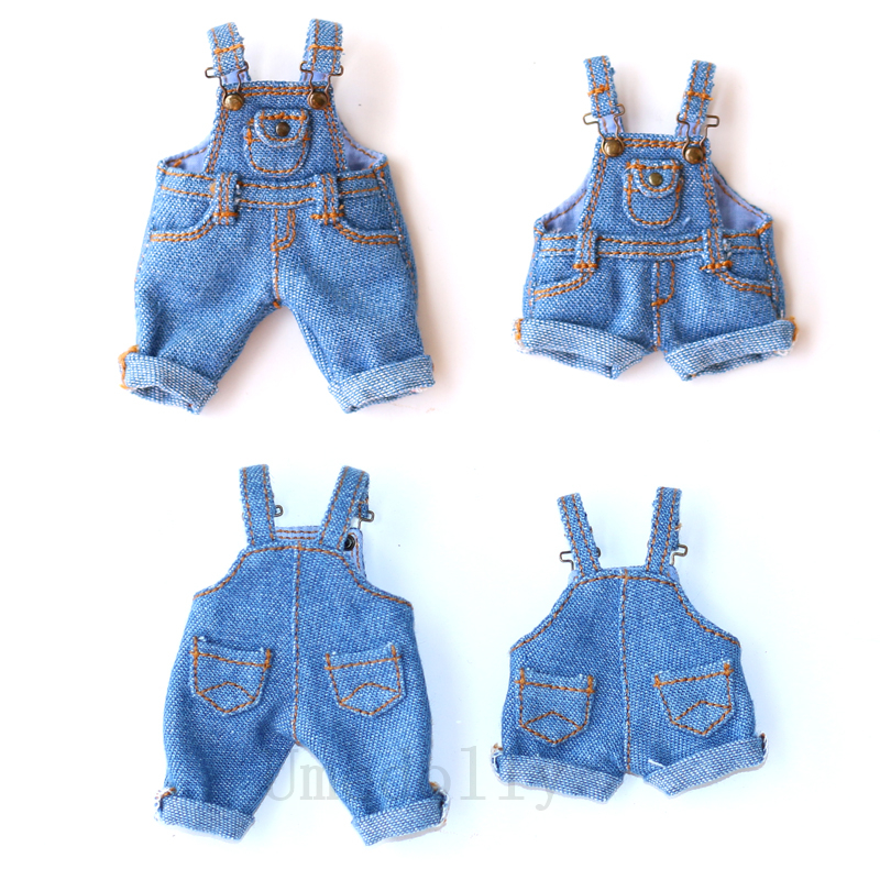 1PCS Cute Doll Denim Overall Or Vest For Ixdoll, Middle Blyth, Blyth,Holala, Ob11 Doll Bib Pants Clothes Accessories