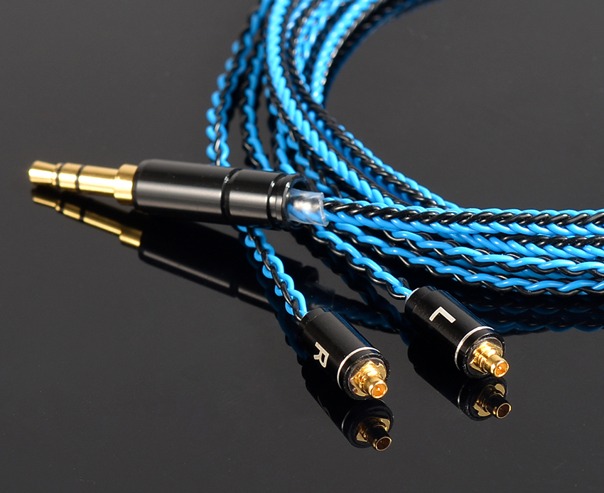 Hand Made DIY Updated 8 Cores 6N Copper Plated Silver MMCX Headset Line 3.5mm Plug Cable Cord For SE525 SE535 SE846 UE900 LA DT2 diy hifi silver updated cable for sennheiser hd580 hd600 hd650 headphone headset ranko plug