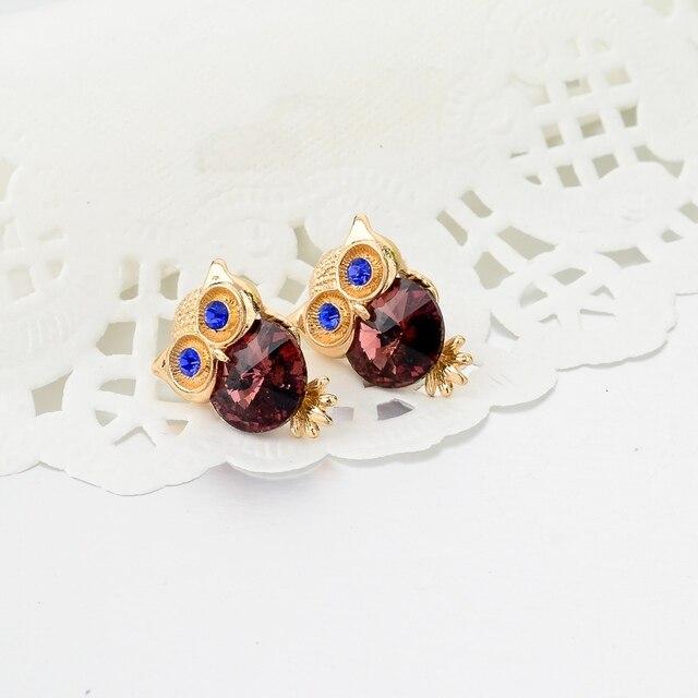 Фото toucheart новые брендовые серьги с кристаллами в виде совы для цена