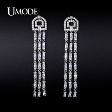 UMODE 2016 New Arrival Crystal Dangle Earrings For Women Boucle D'Oreille Femme Christmas Gifts Fashion Jewelry Aretes AUE0237