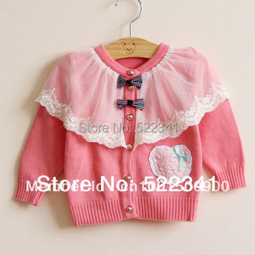 kids knitted sweater baby girls cardigan sweaters 2017 spring autumn kids clothing children sweaters flower