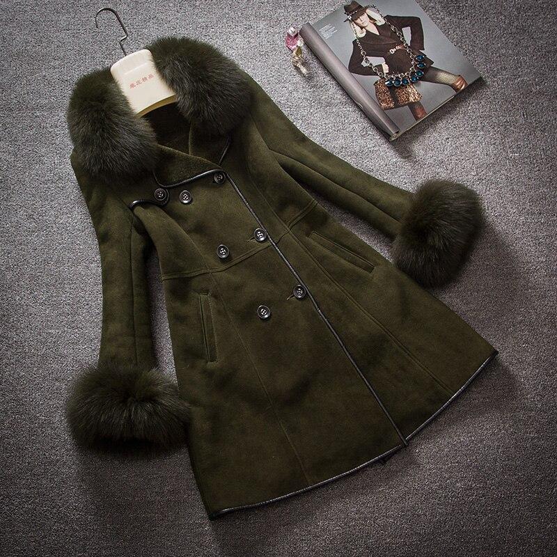 Arlene sain femmes mer Femelle fourrure 2017 nouveau manteau de fourrure dans long dégagement code renard colliers cultiver sa moralité livraison gratuite