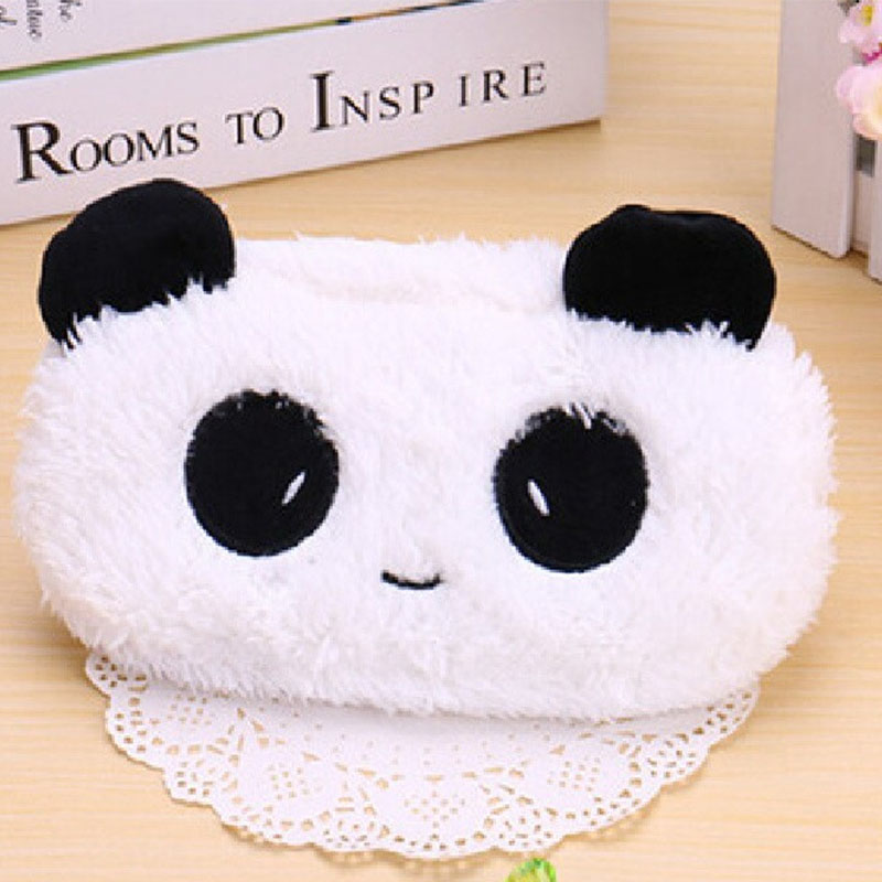 Cute Panda Plush Pencil Case Lovely Animal Cat Makeup Bag Pen Box For Kids Gift Stationery Pouch School Supplies Escolar
