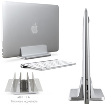 Space-saving Alumínio Suporte Vertical para o Portátil MacBook Pro/Air, espessura Ajustável Titular Desktop NoteBooks Erguido