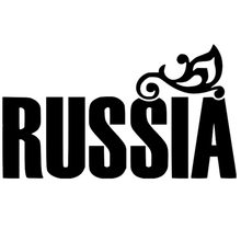 CS-1121#24*14cm Russia funny car sticker vinyl decal silver/black for auto stickers styling