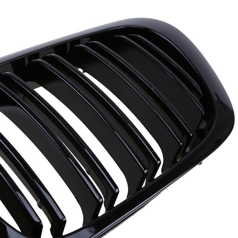 Remplacer les accessoires de calandre pour le couvercle de latte noir brillant de Coupe 98-01 BMW E46 2D - 4