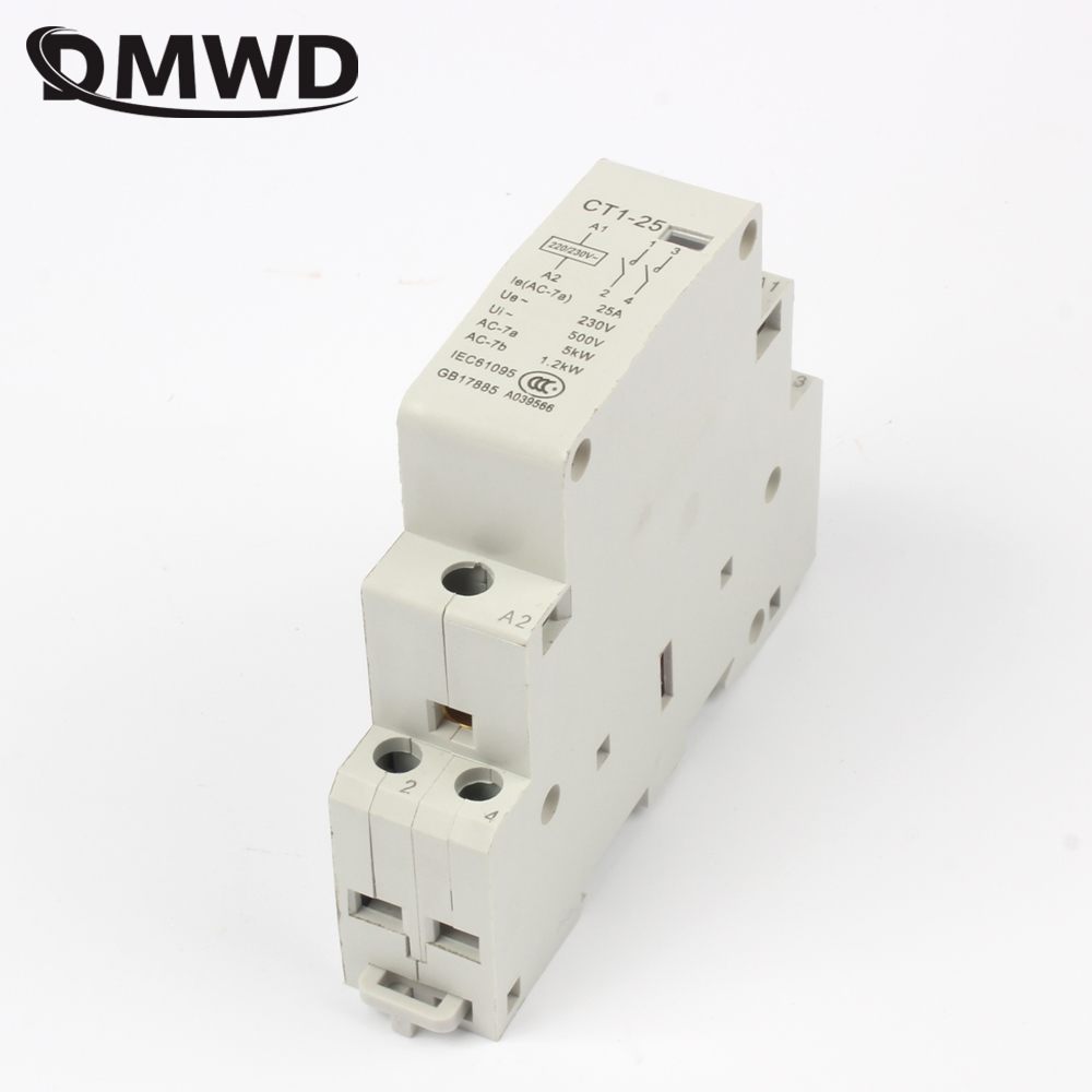 auxiliar de partida KOHTAKTOP CT1 CT1-25 25A 2P 230v 50 or 60HZ Din rail Household AC Contactor ct 2p 25a no nc ac220v home ac contactor often open ct1 25 25a lyn brand