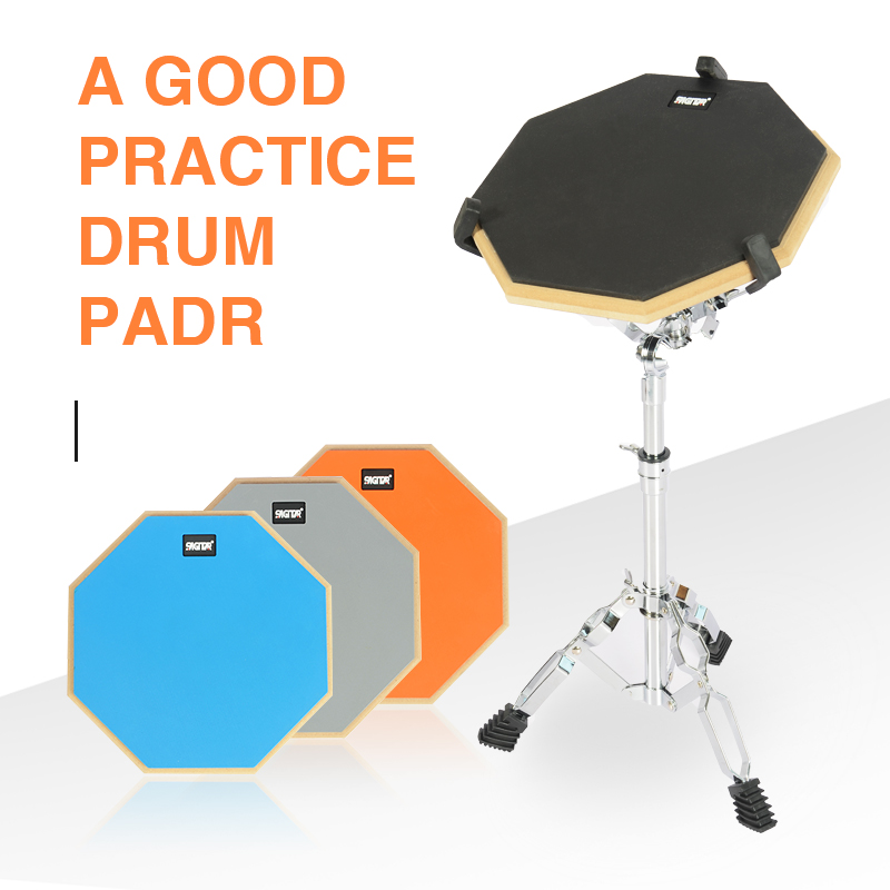 Pratique tambour Pad Set caoutchouc bois tambour pratique silencieux tampons batterie entraînement silencieux tambour Pad Instrument de musique Percussion