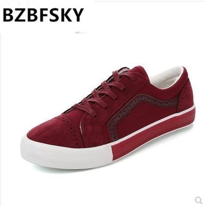 BZBFSKY Brand Womens Canvas Flat Shoes Fashion New Lace Up Women Sneaker Woman Casual Comfortable Flats Footwear Tenis Feminino
