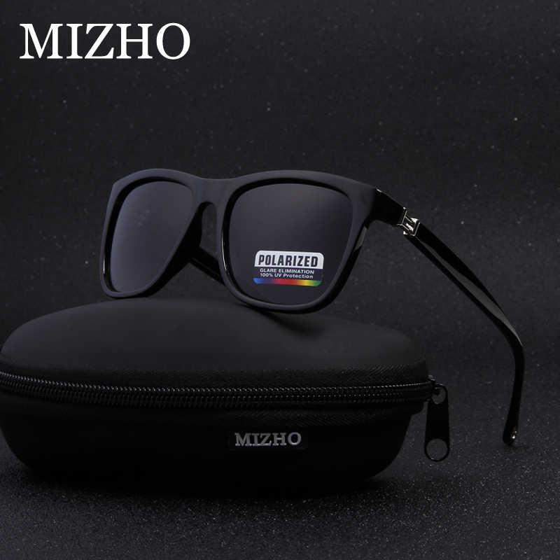 c13c0bc5a5d MIZHO Tiny Plastic Retro Square Polarized Sunglasses Men Fashion UV400  Eyewear Traveling 2019 Women Sun Glasses
