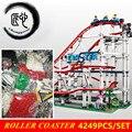 Con motor nuevo La montaña rusa fit legoings 10261 ciudad creador figuras bloques de construcción juguetes para chico regalo de cumpleaños