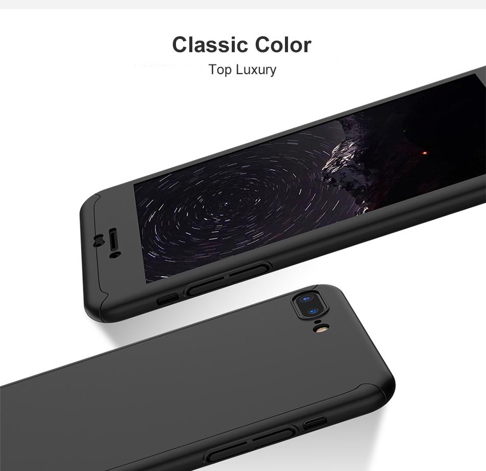 Floveme 360 pełna ochronne twarde etui na telefony iphone 6 6s plus 7 7 plus coque luksusowe odporny na wstrząsy case + ekran szkła Protector 9