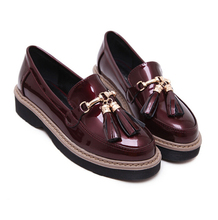Harajuku Platform Creepers Shoes Women's Fashion Brand Punk Platform Shoes black  tassel Loafers sapato feminino