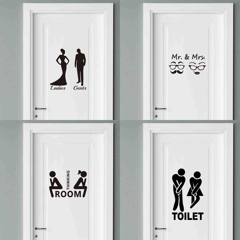 Mr Amp Mrs Quotes Toilet Door Sticker Fashion Bathroom