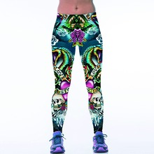 New 070 Sexy Girl Jogging Leggings Comics Skull Love Flower 3D Prints High Waist Running Fitness Sport Women Yoga Pants