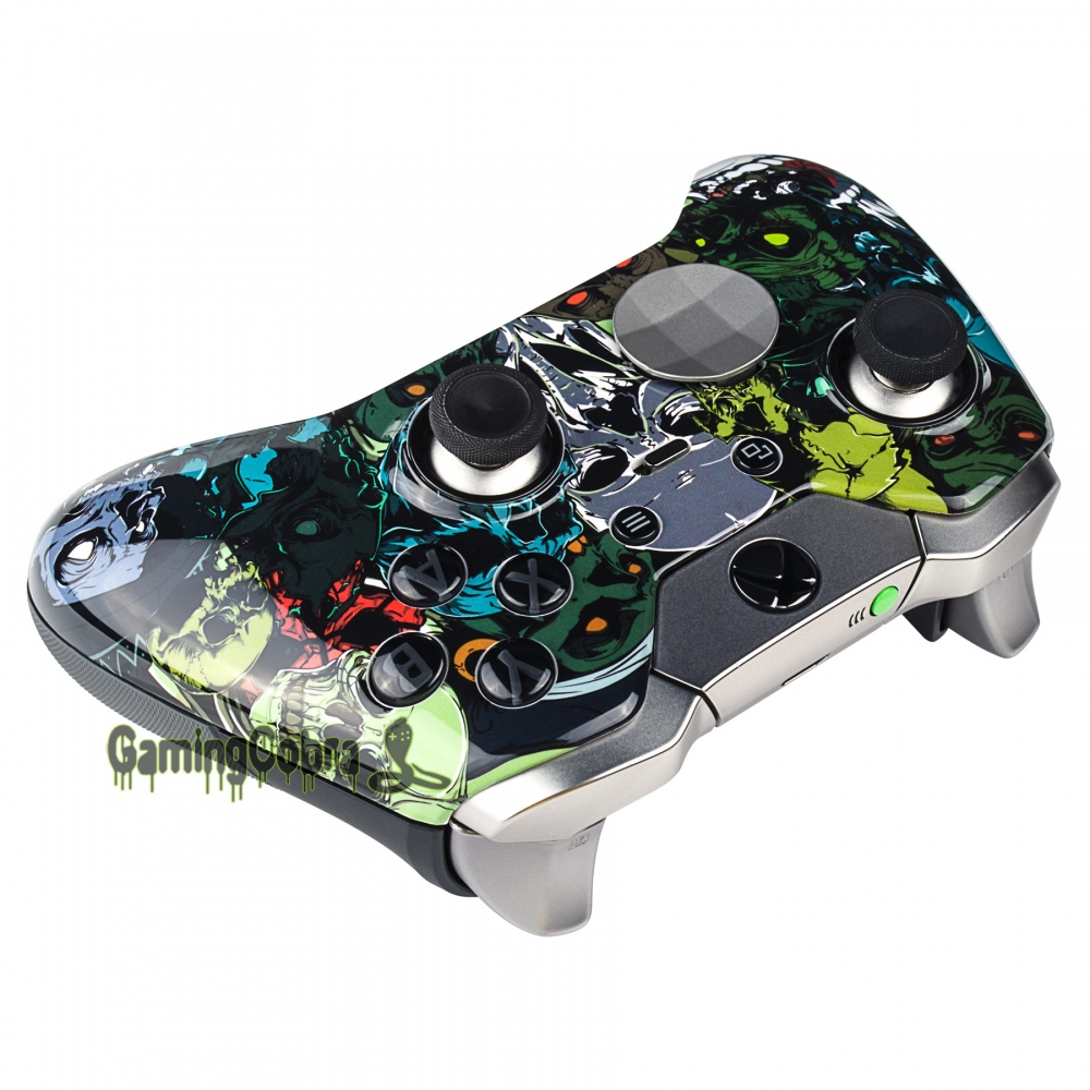 Top Front Shell Faceplate Case Cover Repair for Xbox One Elite Controller  SKULL