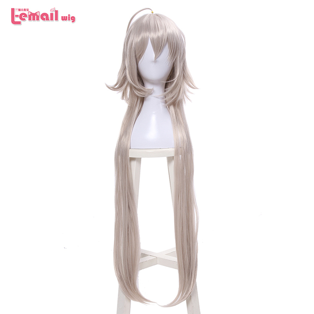 L email wig Fate/Grand Order Jeanne dArc Ruler Cosplay Wigs 95cm Long Heat Resistant Synthetic Hair Perucas Cosplay Wig