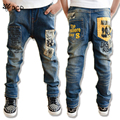 2017 New Casual kids boy jeans Children Pants Letter Print Design Boys Jeans Autumn Kids Trousers Children Clothing Kids Clothes