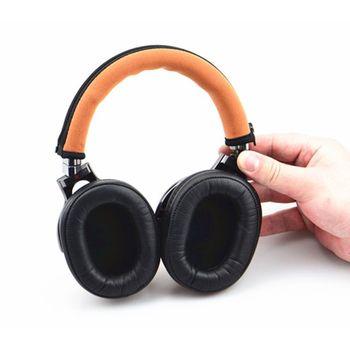 Headphones Headband Cushion Pads Bumper Cover Zipper Replacement for Audio Technica M30 M40 M50 M50X M50S M40X MSR7 Sony MDR-1A