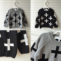 Nununu Full Cross In Boys Girl  Clothing Knitted Children Sweater Kids Shrugs Cothes Pullover Cotton Age 1-5Years Cicishop