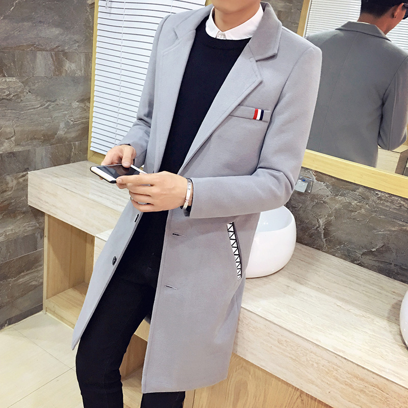 2019 Autumn Winter Fashion Men's Casual Windbreaker High Quality Men Cotton Coats Long Section Slim Windbreaker Jacket Size 5XL