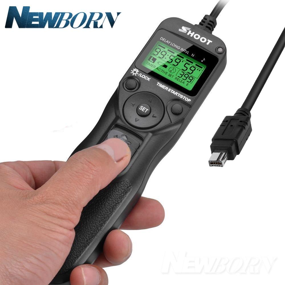 Temporizador remoto Lanzamiento de obturador cable de control cable para Nikon d750 d600 d610 d7200 d7100 D7000 d90 D5000 D5100 d5200 d5300 d5500