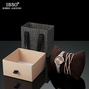 Image 2 - IBSO Women Leather Watch Set Rose Gold  Crystal Bangle Jewelry Watches Xmas Gift Box for Women Jewelry Watch Set