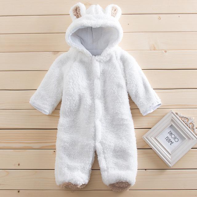 2016 primavera Ropa de bebé recién nacido de algodón gruesa capucha bebé caliente en otoño y ropa de invierno animal Totoro estilo mameluco