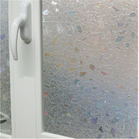 90x100cm Decorative Glass Window Film Home Decor Static Self-adhesive Glass Sticker Gemetric Pattern Clear ST011