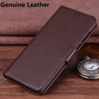 2pcs Luxury Genuine Leather Flip Case 6 0inch For Huawei Mate 10 Pro Back Case Cover