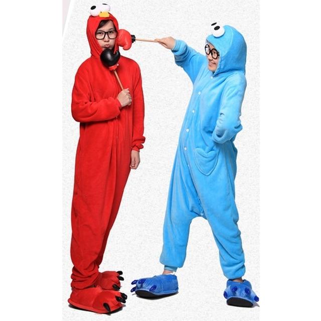 55d7e9b16380 Red Blue Sesame Street Onesie Adult Pyjamas Animal Womens Pajamas Pijama  Pijamas Pyjama Sleepwear For Men Women