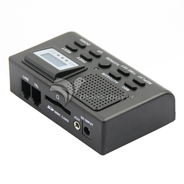 Mini Digital Telephone Call LCD Display With SD Card Slot Phone Voice Recorder