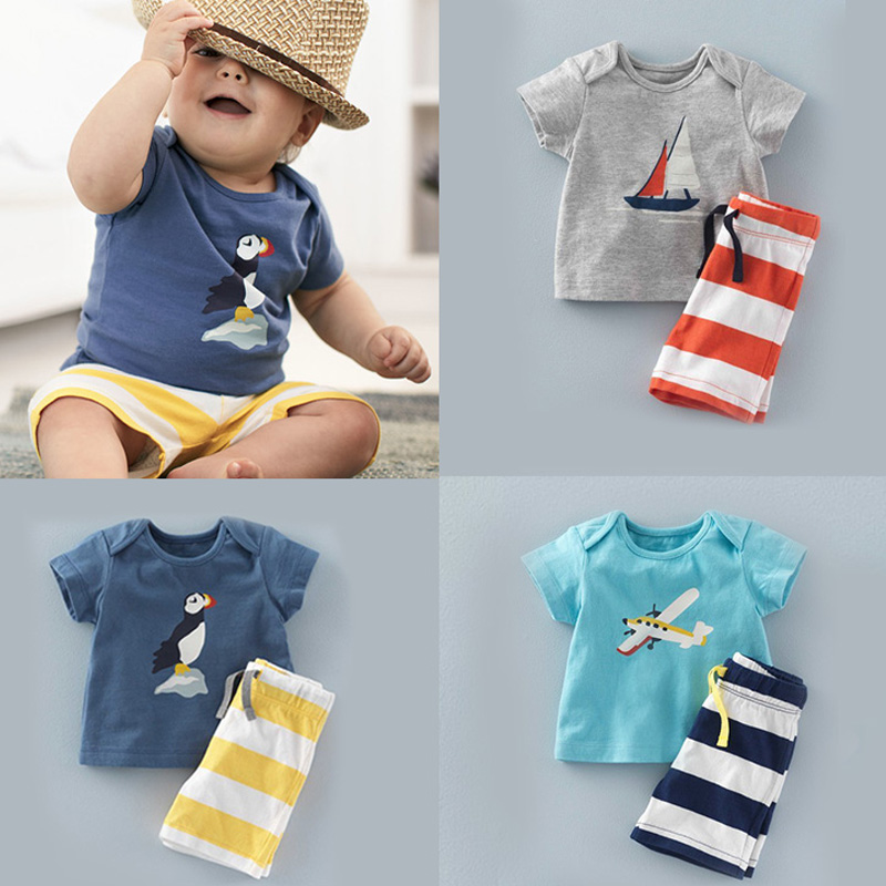 2017-New-Children-Clothing-Boys-Clothes-Kids-Summer-Set-Baby-Clothing-Shorts-Pants-Suit-1