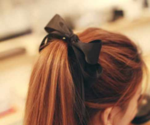 1Pc Women Satin Rubber Bands Bow Elastic Streamers Hair Band Rope Scrunchie Tie Solid Headwear Hair Accessories