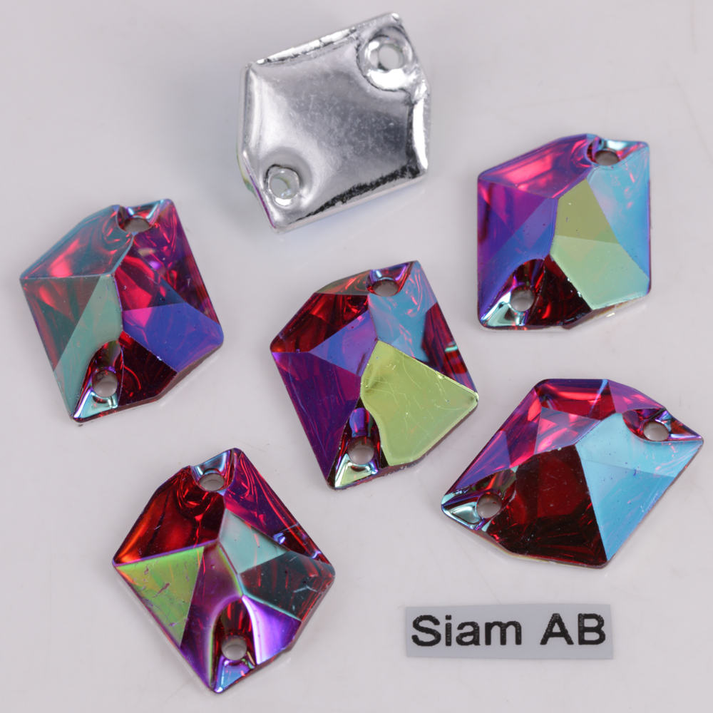 Home & Garden Apparel Sewing & Fabric 11x14mm Resin Sewing On Rhinestones 16x20mm Flat Back Sew-on Colors Ab Cosmic 21x26mm Perfect Quality Two Hole Plastic Fancy Easy And Simple To Handle