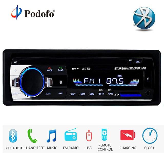 podofo autoradio jsd 520 12v car radio bluetooth 1 din stereo radiospodofo autoradio jsd 520 12v car radio bluetooth 1 din stereo radios aux in fm usb receiver mp3 multimedia player car audio