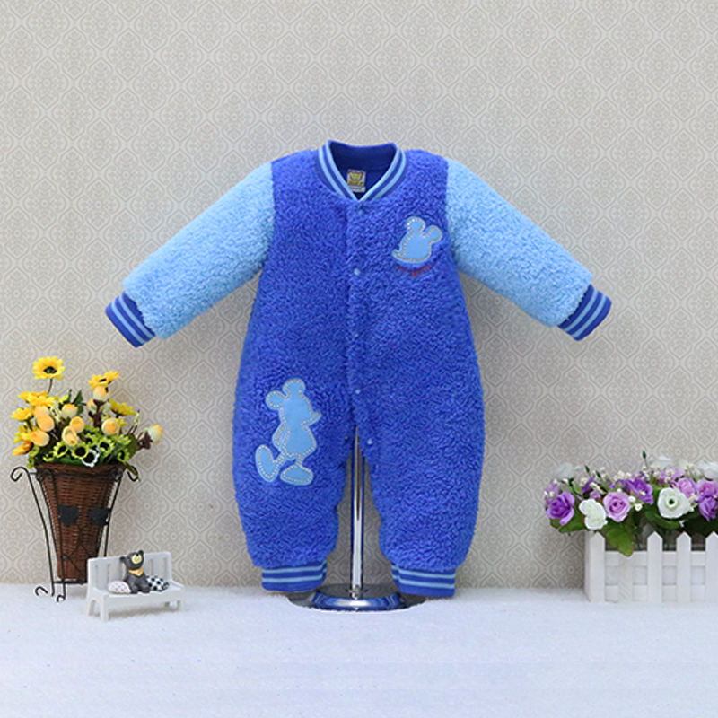 Coral fleece baby jumpers high quality Toddler One-Piece Romper Newborn rompers winter children sleepwear boys and girls clothes 2016 winter new soft bottom solid color baby shoes for little boys and girls plus velvet warm baby toddler shoes free shipping